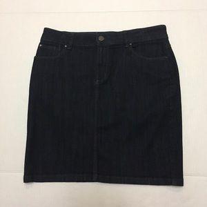Ann Taylor denim mini skirt dark wash size 6